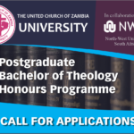 CALL FOR APPLICATIONS FOR POSTGRADUATE HONOURS THEOLOGY PROGRAMME